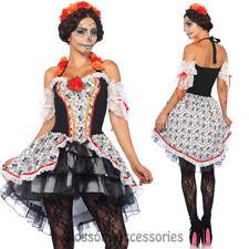 CA74 Leg Avenue Lovely Calavera Mexican Day of Dead Senorita Dress Skull Costume