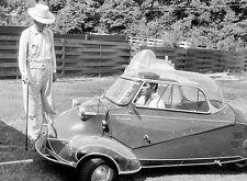 1956 Messerschmitt KR200 With Elvis Presley - Photo Poster