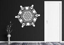 Wall Vinyl Decal Snowflake Water Crystal Flower Life Home Interior Decor (n828)