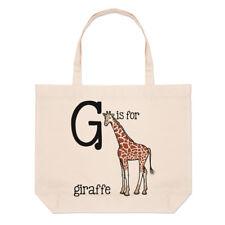 Lettre G est pour Girafe Grand Plage SAC FOURRE-TOUT - Alphabet Animal drôle
