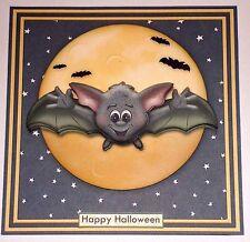 Handmade Greeting Card 3D Halloween With A Bats