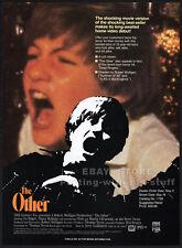 THE OTHER (1972)__Original 1989 Trade AD movie promo__DIANA MULDAUR__JOHN RITTER