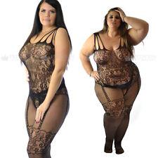 PLUS UK 6-26 giarrettiera lingerie senza cavallo calze corpo rete LOTTO Sassy Fetish
