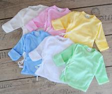 """56 62 68 Baby Shirt /""""Rentierchen/"""" Wickelshirt Babyhemdchen für Neugeborene Gr"""