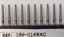 Diamond Burs 50x199-856-016sXC extra course 1.6 mm Diameter 10mm Cutting Length.