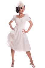 50s rockabilly SWING Petticoat Kleid Brautkleid Hochzeitskleid creme
