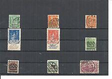Deutsches Reich 1919 - 1923, Einzelmarken aus MiNrn: 115 - 330 o, BPP geprüft