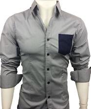 GL FASHIONS #41# New Designed Mens Casual Slim Dress Shirts UK size S/M/L/XL/XXL