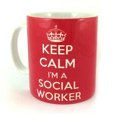 NEW KEEP CALM I'M A SOCIAL WORKER GIFT MUG CUP PRESENT NOVELTY HUMOUR FUN
