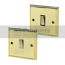 10 Amp Intermediate Single Light  Switch 1 Gang Polished Mirror Brass Victorian