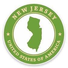 2 X Usa Nueva Jersey Pegatina de vinilo coche viaje equipaje #9409