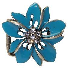 fronhofer boucle de ceinture fleur, turquoise, Femmes, 3 cm boucle, hawaiiblume