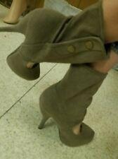 Liliana High Heel Womens Youth Girls Boots NIB Black & Grey Green Color Suede