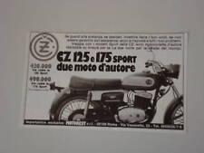 advertising Pubblicità 1976 MOTO CZ 125/175 SPORT