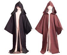 Kids Star Wars Robe Cosplay Boys Brown Jedi Cloak Black Sith Childrens Costume