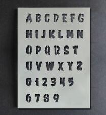 Halloween Stencil Alphabet A-Z 0-9 Letters Numbers Paint Customise Reusable