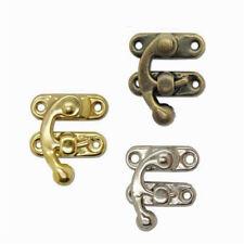 2pcs Buckle Jewelry Box Horns Lock Wine Wooden Box Hasp Latch Hook With Screws