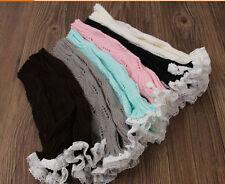 Kids perneras Regalos Knitted calcetines Invierno Crochet Calzas Encaje Arranque Toppers