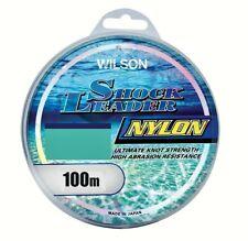100m Spool of Wilson Nylon Shock Leader - Monofilament Fishing Leader Material