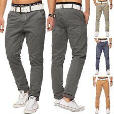 Hombres Chino pantalones de mezclilla de la entrepierna (varios colores)