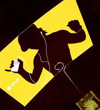 ORIGINALE Apple iPod cartolina in arancione NUOVO Merchandising/Pubblicità Top