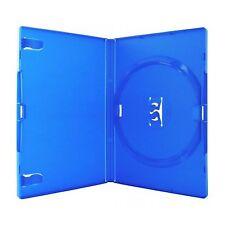 Unico Custodia di DVD Standard Blu 14 mm spina dorsale NUOVO Ricambio Vuoto Amaray COVER