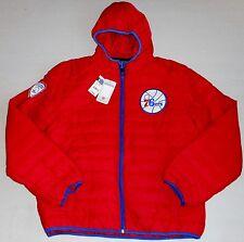 PHILADELPHIA  76ers WINTER JACKET COAT WOMEN'S L XL 2X NBA TEAM APPAREL NWT RED