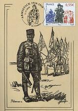 """W108-5CP CM """"Maréchal FOCH / 90 ans Armistice - Grande Guerre 1914-1918"""" 2008"""