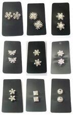 2 Perni Di Capelli Sposa Perla Cristallo nuziale fiore argento colpi di scena Swirl SPIRALI UK