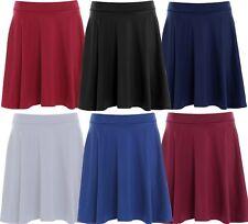 Ladies Plus Size Stretch Waist Band Flippy Flared Skater Skirts