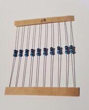1/4W Resistors +/-1% - 10 Pack - Choose from 1R to 820R - UK Free P&P