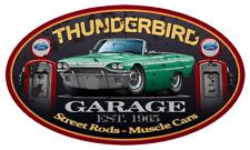 1965 Ford Thunderbird Convertible Garage Sign Wall Art Graphic Sticker