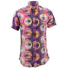 Camisa Hombre Loud Originales Ajustado Portilla Morado Retro Psicodélico