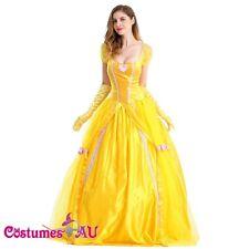 Ladies Disney Princess Belle Sleeping Beauty and the Beast Fancy Dress Costume