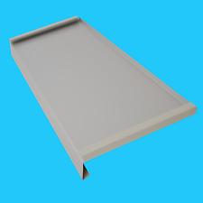 Aluminium Fensterbank; Seiten doppelt gekantet; Silber RAL 9006 Alu Blech 1,2mm