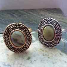 Connemara marble Celtic Irish ring. Gold,Silver antique finish.Jewelry Christmas