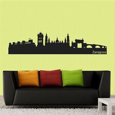 Vinilo adhesivo decorativo urbano con silueta de ciudad SKYLINE ZARAGOZA