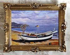Barco Playa Reproducción OBRAS DE ARTE von Contemporáneo PINTORES 90x70