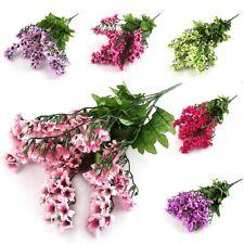 Large Blosom Bush Bouquet! Artificial Flowers Peach Plum Spring Fake Silk
