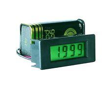 LCD, 8 mm Panelmeter Einbau Voltm 3½-st.  200 mV DC bel