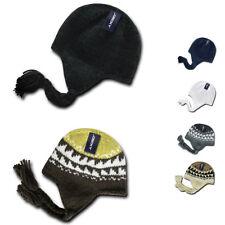 Decky Warm Winter Peruvian Knit Beanies Braided Ear Tails Chullo Caps Hats