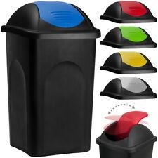 Stefanplast® Mülleimer 60L Schwingdeckel Abfalleimer Abfallbehälter Müllbehälter