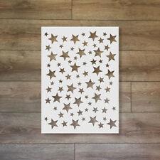 Stars - Christmas / Winter Reusable Plastic Stencil