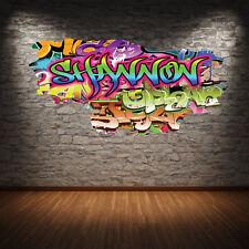 3D personnalisé graffiti TOUT nom fissuré Art Mural Autocollant Décalque wsdpgn5