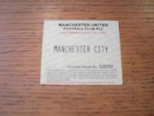Billete De 10/11/1994: Manchester United v Manchester City [Adulto season ticket vouc