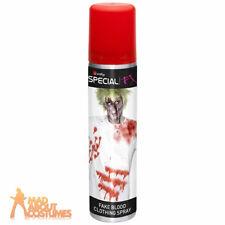 Fake Blood Clothing Spray Vampire Zombie Halloween Fancy Dress Make Up FX 75ml