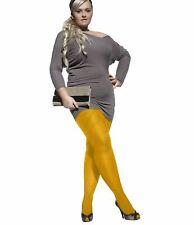 Mustard Plus Size Microfibre Tighs Aurellie 60 Denier HOSIERY Size XL - XXXXL