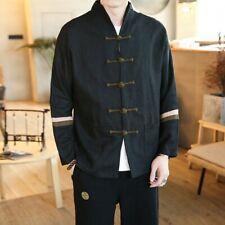 Vintage Men  Linen Cotton Button Tang Suit Leisure Chinese Style Coat Jackets UK