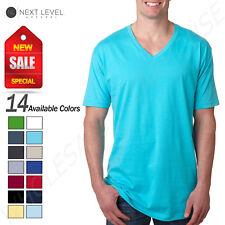 Next Level Mens Ultra Soft Premium Fit Short Sleeve V Neck T-Shirt M-N3200