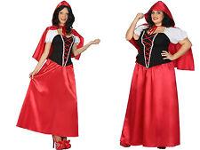 Damen Kostüm Rotkäppchen langes Kleid Cape XS/S M/L XL 2XL Märchen Fasching